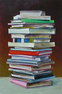 Cornelius Voelker: Books, 2007, oil on canvas, 260 x 180 cm