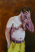 Cornelius Voelker: Man, 2007, oil on canvas, 220 x 150 cm
